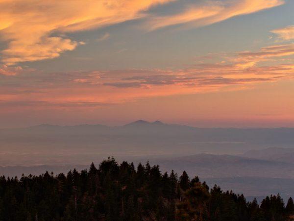 los angeles mountain sunset