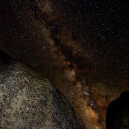 milky way astrophotography buttermilks bouldering