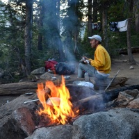 backpacking camping sawtooth mountain wilderness