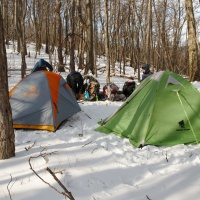 Winter camping in Shenandoah National Park